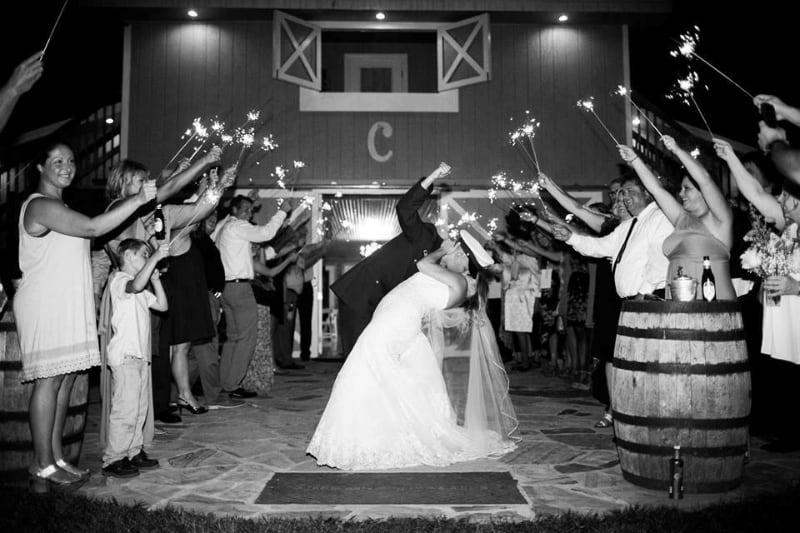 the-barn-wedding-venue-sparklers