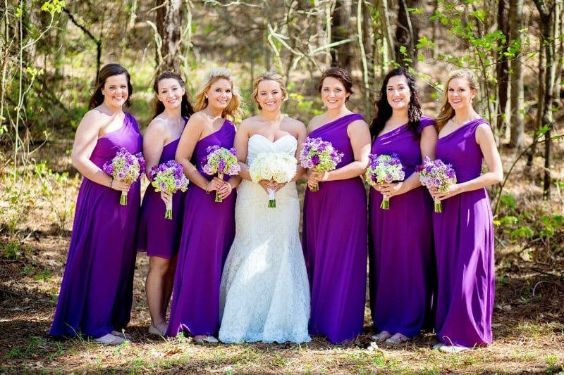 weddings-alabama-venues-flagstone-farm-purple-dresses